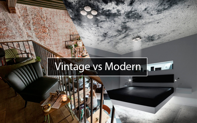 Vintage vs modern what would you choose p m furniture blog - Contemporary vs modern design ...