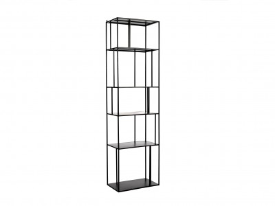 Shelf unit metal tall single
