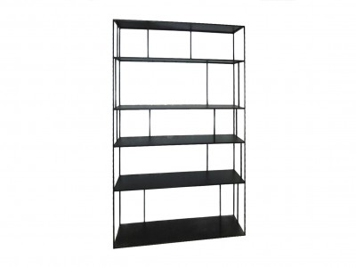 Shelf unit metal tall double