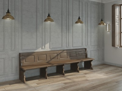 Wood panel bench