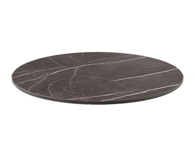 Compact laminated table top marble