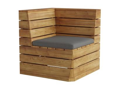 Robinia Corner Bench