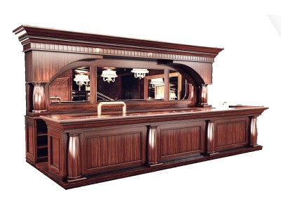 18-Solid wood bar