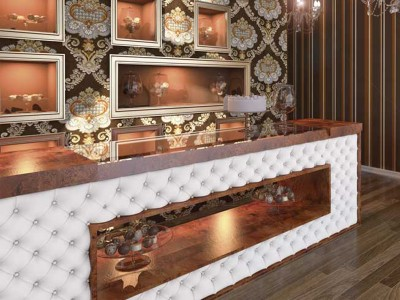 03 - Capitonated counter bar